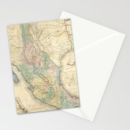 Vintage Map of Mexico (1847) Stationery Cards