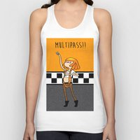fifth element Tank Tops featuring What Time is It? Fifth Element Time Multipass!  by maz layley