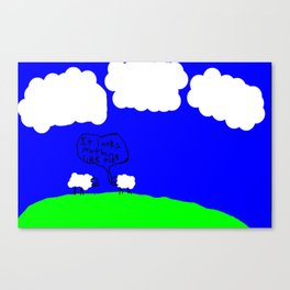 Watching the Clouds Go By Canvas Print