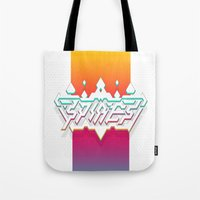 spires Tote Bags featuring Spires : Crystyl Cystlys Spectrym  by Spires