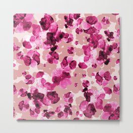 Pink watercolour floral Metal Print