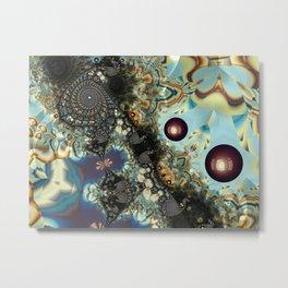 Storm Shadow Fractal Metal Print