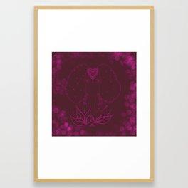 Flamboyant elephant Framed Art Print