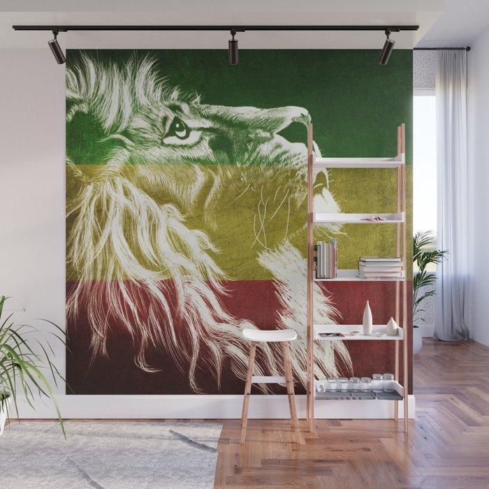 Rasta Art, Rasta Tapestry, Rastafarian, Rasta Gift, Rasta Lion, Rasta Wall Art, Wall Mural