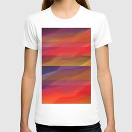 Seascape in Shades of Red and Purple T-shirt