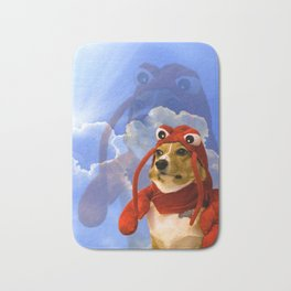 Lobster Corgi Bath Mat
