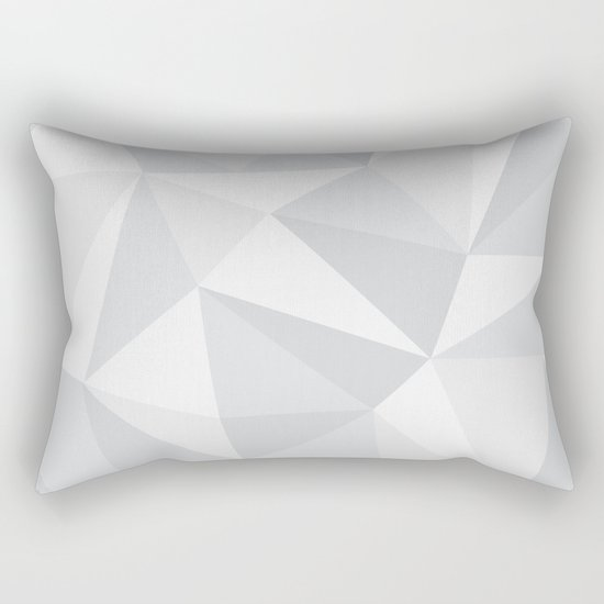 White Deconstruction Rectangular Pillow