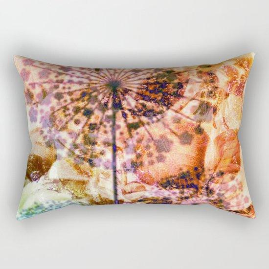 dandelion in warm tones Rectangular Pillow