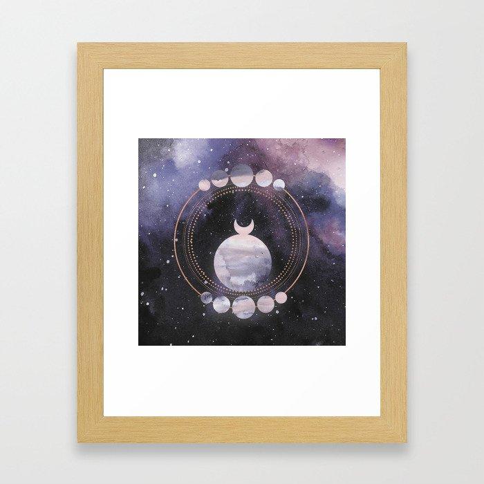 Full Moon Salutation Framed Art Print