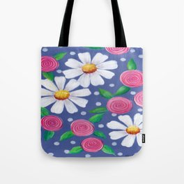 Daisey Pattern Tote Bag