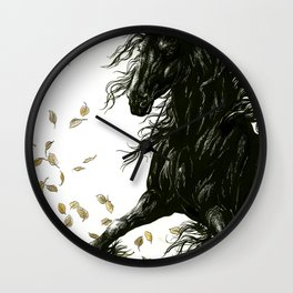 Autumn Friesian Wall Clock