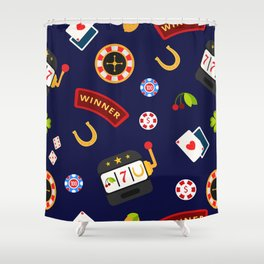 casino pattern Shower Curtain