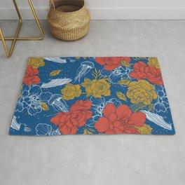 Flowers in the ocean Rug