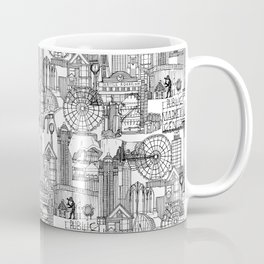 Seattle black white Coffee Mug