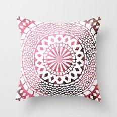 Nebula Snake Mandala Throw Pillow