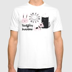 you are my sunshine MEDIUM White Mens Fitted Tee