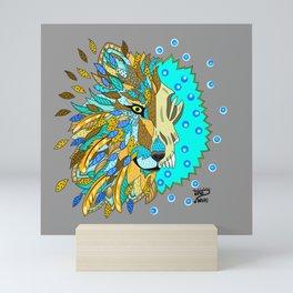 Wolf with Feathers Spirit Animal Pop Art Print Natural Mini Art Print