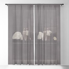 Moon on a meadow vintage 1920s Sheer Curtain