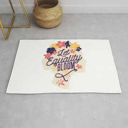 Let Equality Bloom Women's Rights Rug