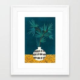 Night Palm / Night Scene Series Framed Art Print