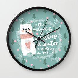 Lazy Quote Wall Clock