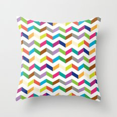 Funny stripe Throw Pillow