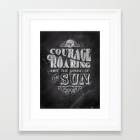 courage Framed Art Prints featuring Courage by JenHoney