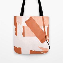 Matisse Inspired Orange Red Collage Tote Bag