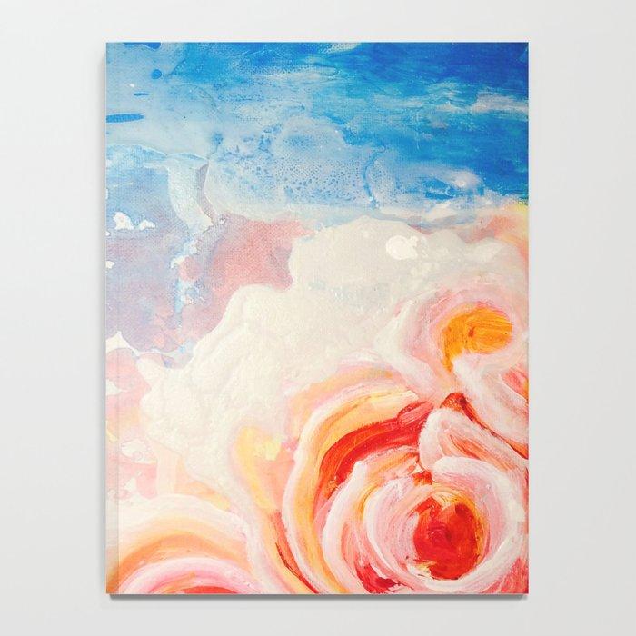 Peachy Roses Notebook