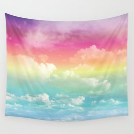 Clouds in a Rainbow Unicorn Sky Wall Tapestry