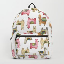 Llama love / Alpaca adventure wanderlust travel / animal baby nursery gift for her shower decor Backpack