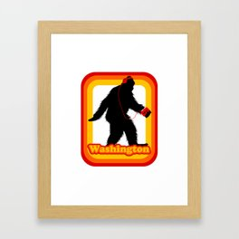 Retro Sasquatch Washington Framed Art Print