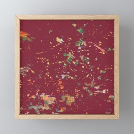 Cranberry Red Bohemian Fiber Art Framed Mini Art Print