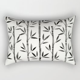 Black Bamboo Rectangular Pillow