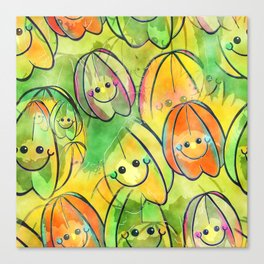 Starfruit Watercolor Canvas Print