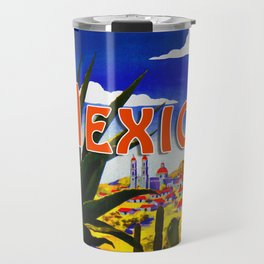 Vintage Mexico Village Travel Travel Mug
