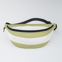 Pomelo Olive - solid color - white stripes pattern Fanny Pack