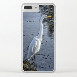 Great Egret at Delta Ponds, No. 1 Clear iPhone Case