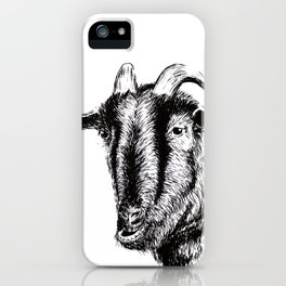 Interaction with goat iPhone Case