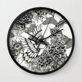 Cranes (B&W) Wall Clock