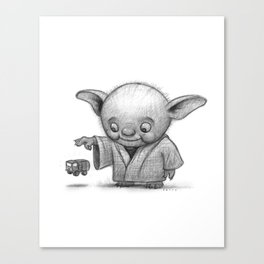 Lil Yoda Canvas Print