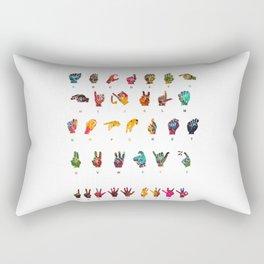 Sign Language Rectangular Pillow