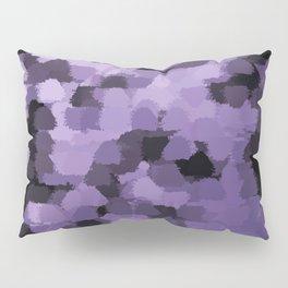 Dark abstract pattern on silver background Pillow Sham