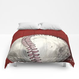 Vintage Baseball Art Comforters