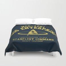 USS Enterprise spaceship Duvet Cover