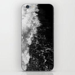 Black and White Waves iPhone Skin