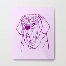 Neapolitan Mastiff (Lilac and Purple) Metal Print