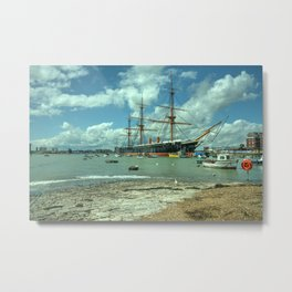 HMS Warrior at Portsmouth Harbour Metal Print