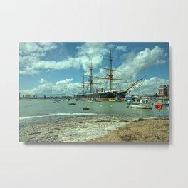 HMS Warrior at Portsmouth Harbour Metal Print