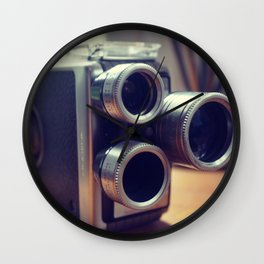 Vintage movie camera Wall Clock
